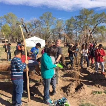 kids planting valle de oro wildearth guardians