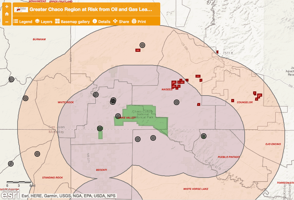 Greater Chaco leasing map