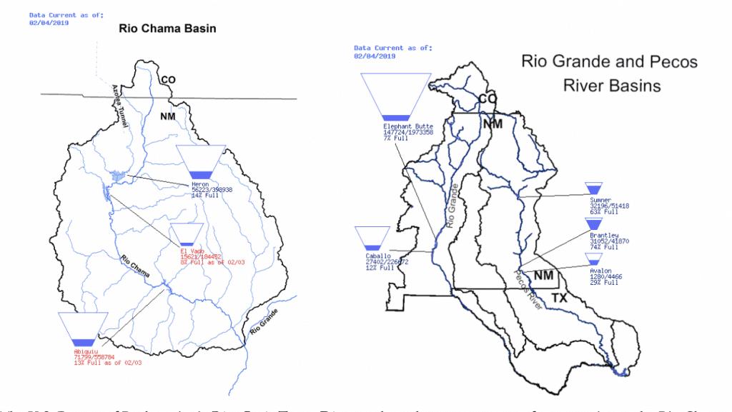 Bureau of Reclamation river basin Teacup diagrams