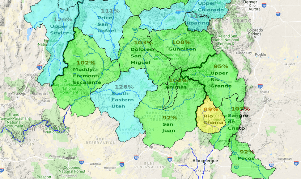 Rio Grande Reservoirs Dismal But Snowpack Improved Wildearth Guardians - Rio-grande-on-us-map