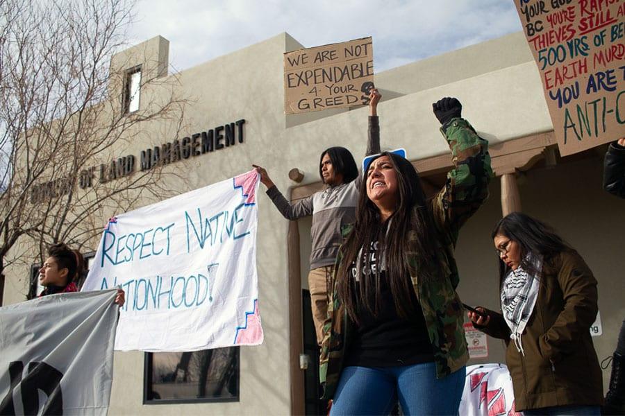 pueblo action alliance protesting wildearth guardians