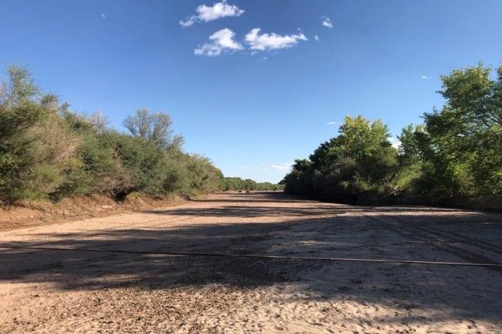 Dry Rio Grande above Bosque del Apache NM Galen Hecht WildEarth Guardians