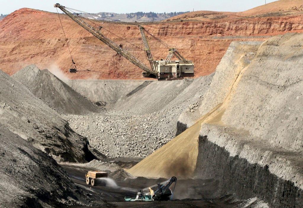Spring creek coal mine, Montana.