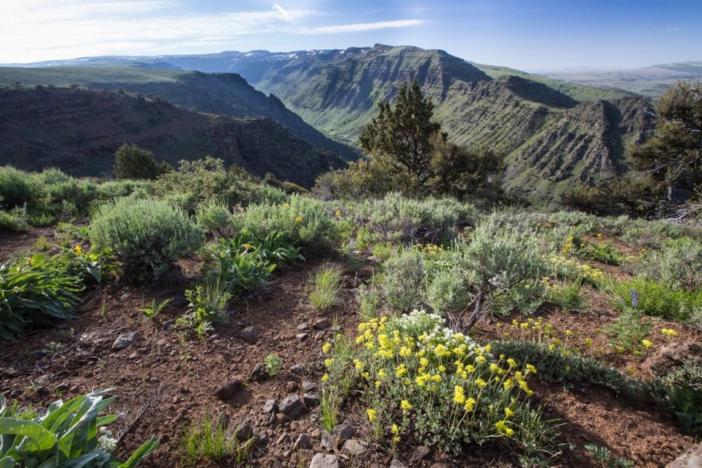 Steens Mountain in southeastern Oregon. Photo by Bureau of Land Management.